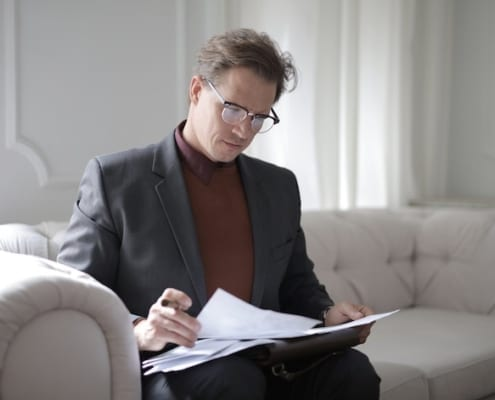 Man with paperwork